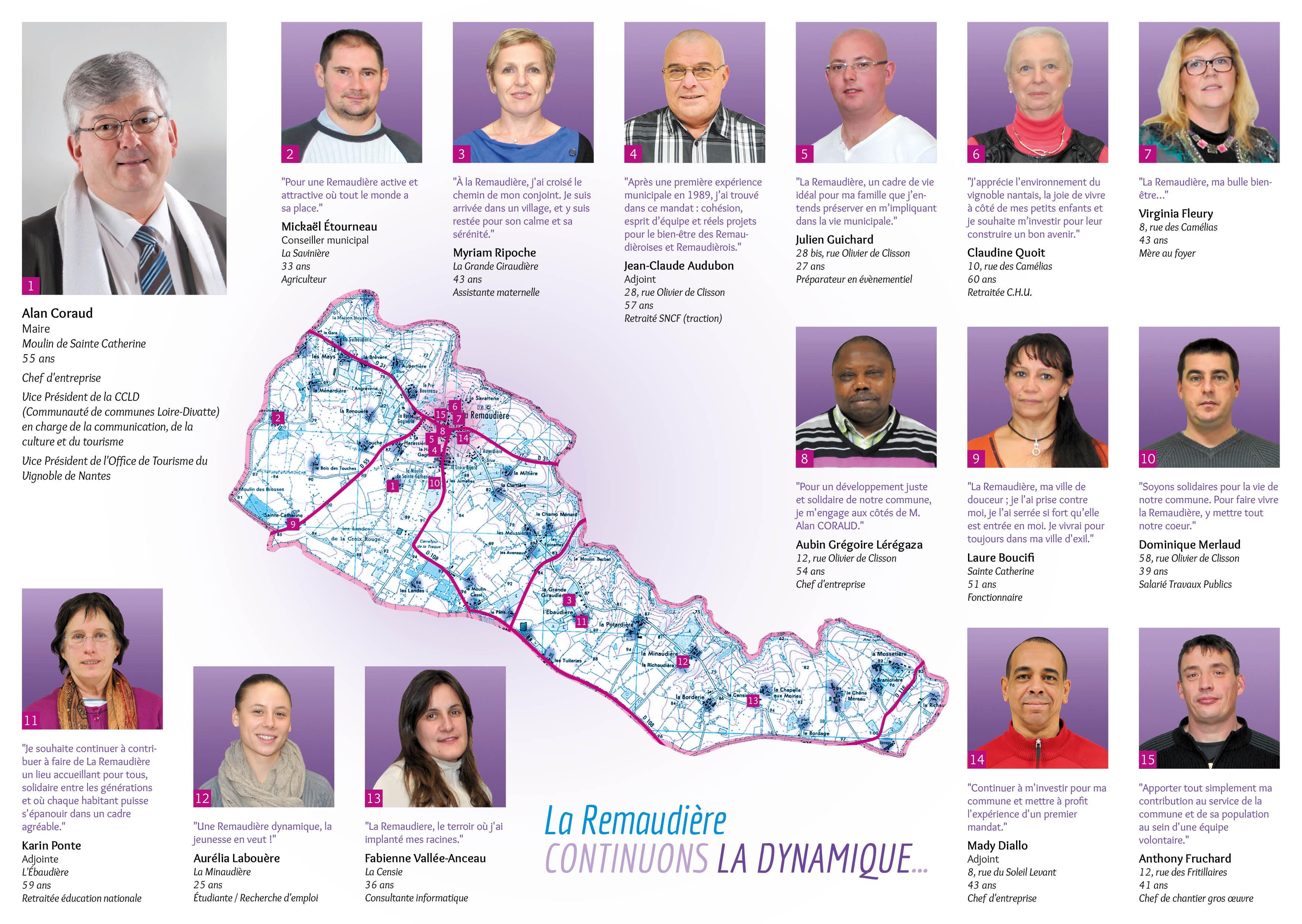 colistiers situés à La Remaudière