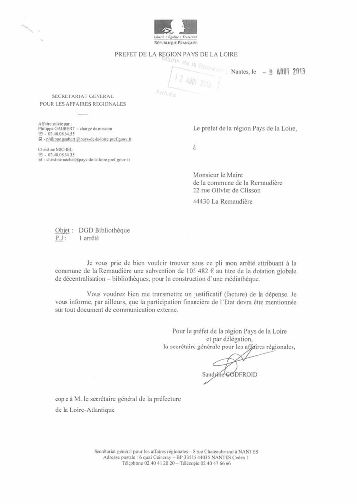 DGD Bibliothèque La Remaudière